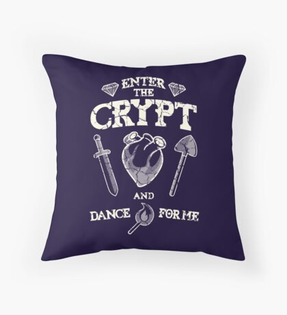 Enter the crypt. Throw Pillow