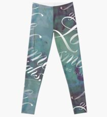 """Love is a Smoke"" Shakespeare Quote Leggings"