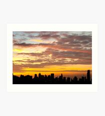 Makati Sunset Art Print