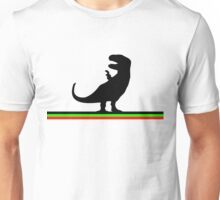 Dinosaurs artwork (black design) Unisex T-Shirt