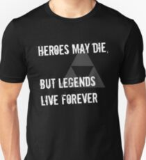 Heroes May Die (White Text) Slim Fit T-Shirt