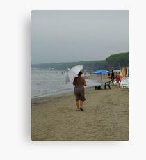 seaside walk Canvas Print