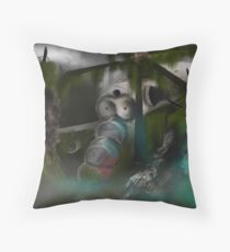 Downed Helicopter Throw Pillow