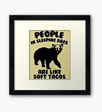 Camping Humor - Bear Food Framed Print