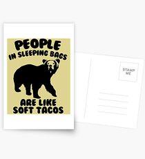 Camping Humor - Bärenfutter Postkarten