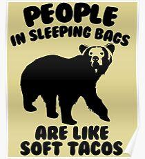 Camping Humor - Bear Food Poster