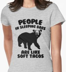Camping Humor - Bear Food Women's Fitted T-Shirt