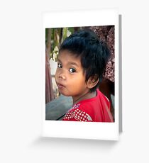 Khmer Child Greeting Card