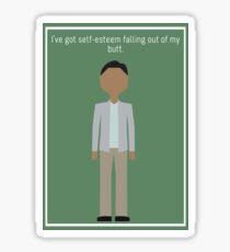 """Abed Nadir: """"Self-Esteem"""" Sticker"""