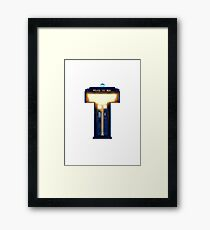 Geek letter T Framed Print