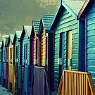 Beach Huts by Fiona Christensen