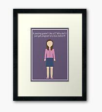 "Annie Edison: ""Passing Grade"" Framed Print"