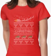 Christmas Vacation Misery Women's Fitted T-Shirt