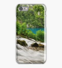 Flowing water and turquoise lake. iPhone Case/Skin