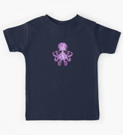Cute Purple Baby Octopus Kids Clothes