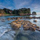 Waimama Bay Daybreak by Ken Wright