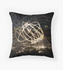 Steel Wool Throw Pillow