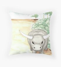 Ben and the dungbeetle Throw Pillow