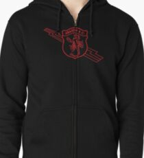 Old School Abarth (red print) Zipped Hoodie