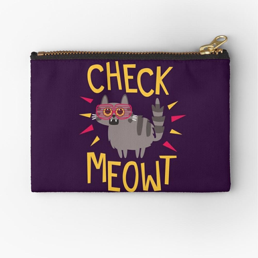 Check Meowt Zipper Pouch