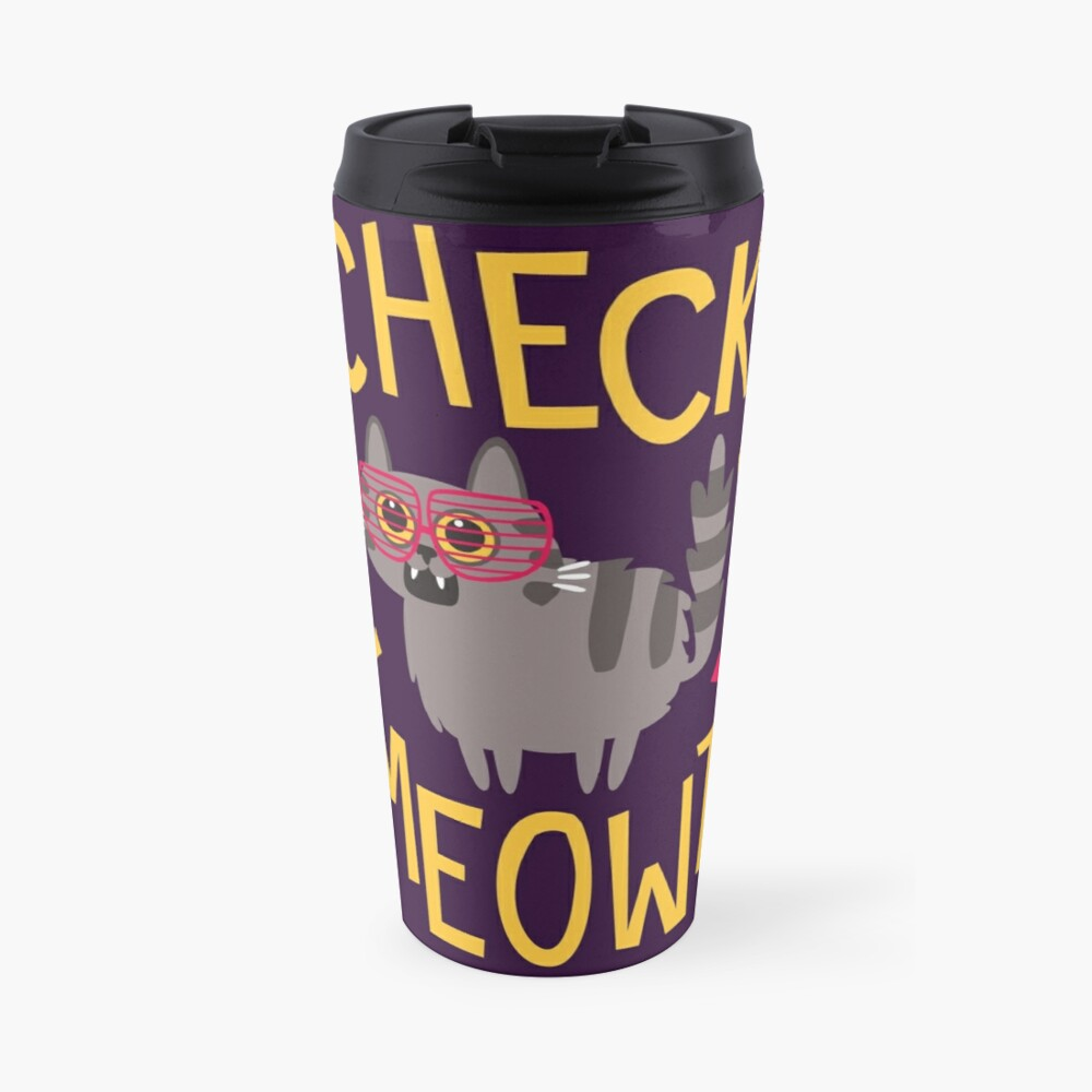 Check Meowt Travel Mug