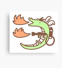 Dragon With A Flamethrower Canvas Print