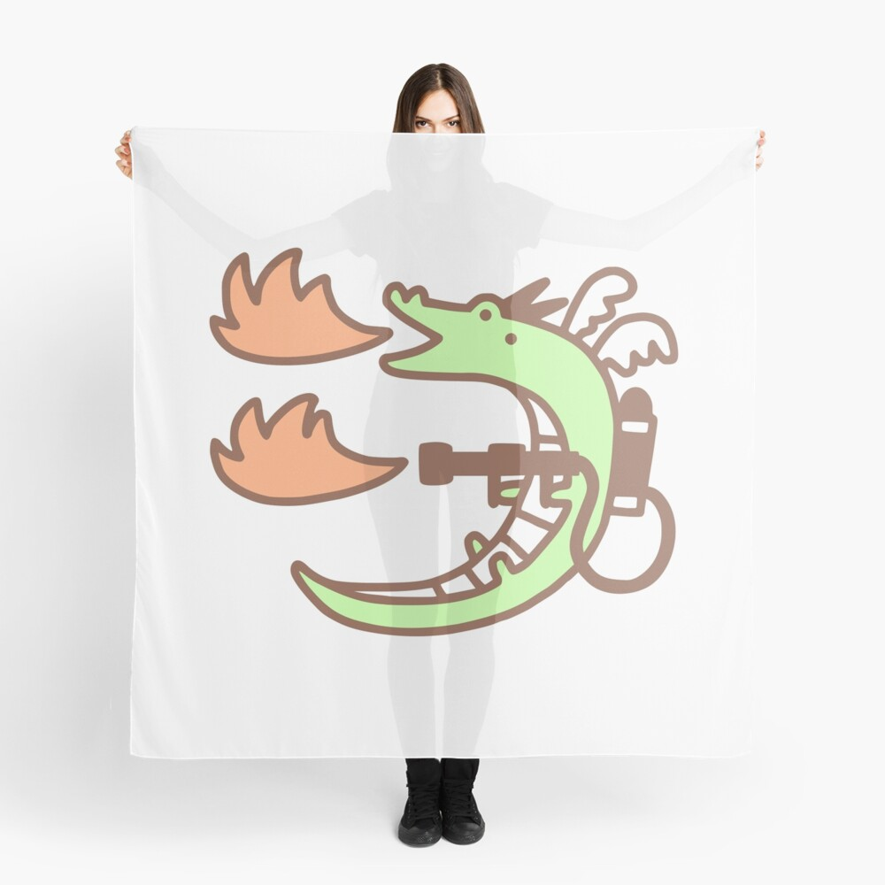 Dragon With A Flamethrower Scarf