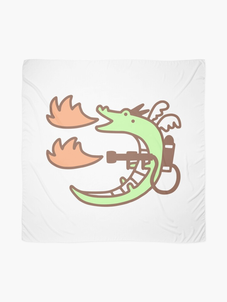 Alternate view of Dragon With A Flamethrower Scarf