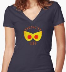 Hench Life Women's Fitted V-Neck T-Shirt