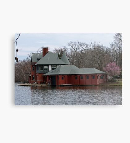 Boathouse at Roger Williams Park Metal Print