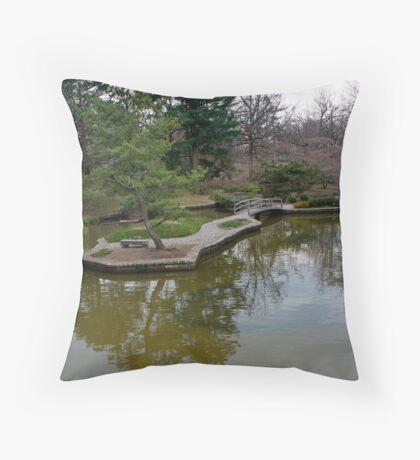 Public Park, Private Garden Throw Pillow