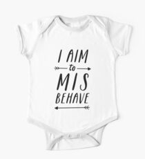 Aim To Misbehave | White Kids Clothes