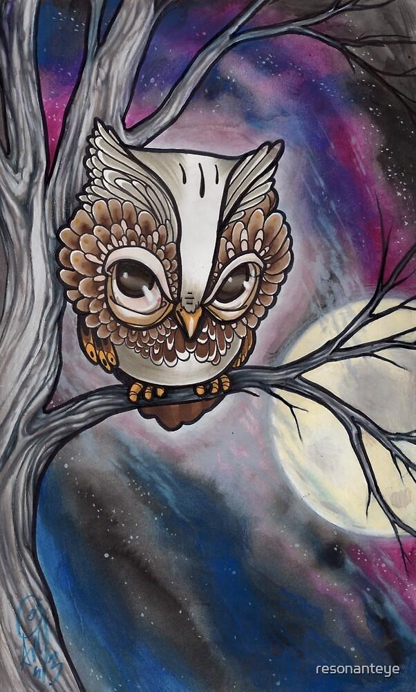 shy night owl painting. by resonanteye