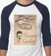 Just Hanging Around (Vintage Halloween Card) Men's Baseball ¾ T-Shirt