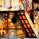 Camaret - Rusty stairs. by Jean-Luc Rollier