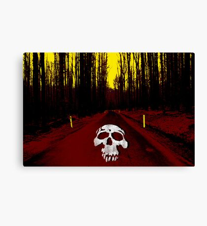 Death On The Road Canvas Print