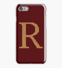 Weasley Sweater Letter R iPhone Case/Skin