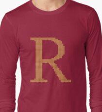 Weasley Sweater Letter R Long Sleeve T-Shirt