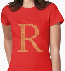 Weasley Sweater Letter R Women's Fitted T-Shirt