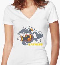 Catniss Women's Fitted V-Neck T-Shirt