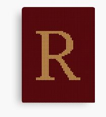 Weasley Sweater Letter R Canvas Print