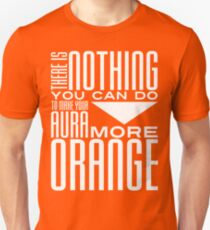 Orange Aura in White T-Shirt