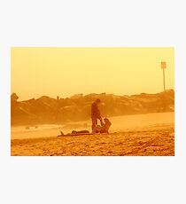 Couple at SunSet Photographic Print