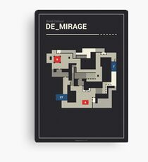 Counter-Strike de_mirage with white outline Canvas Print