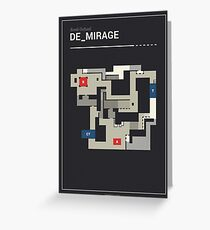 Counter-Strike de_mirage with white outline Greeting Card