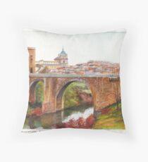 Puente De Alcantara, Rio Tajo, Toledo Throw Pillow