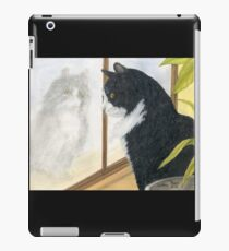 Tuxedo Cat Reflection Cathy Peek Animal Art iPad Case/Skin