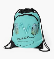 Music Charge Drawstring Bag