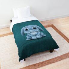 Cute Blue Baby Bunny Rabbit  Comforter