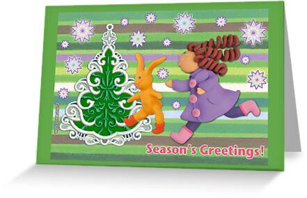 Season's Greetings Card by curlyorli